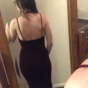 Lulu's Dresses - JAZZY BELLE BURGUNDY VELVET DRESS